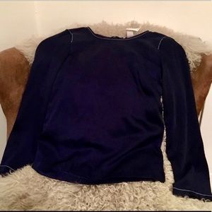 H&M ~ Long-Sleeve Deconstructed Top